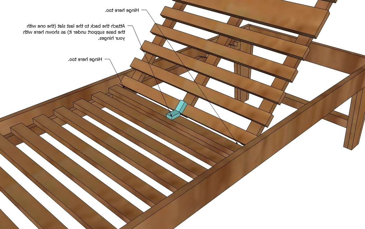 Wooden Chaise Lounge Chairs Plans • Lounge Chairs Ideas Regarding Well Known Diy Chaise Lounges (View 15 of 15)