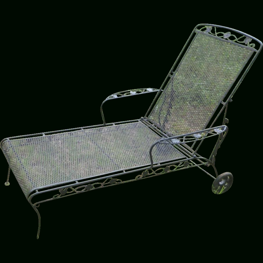Wrought Iron Chaise Lounge – Jefferson Wrought Iron Chaise Lounge Inside Well Known Wrought Iron Chaise Lounges (View 6 of 15)
