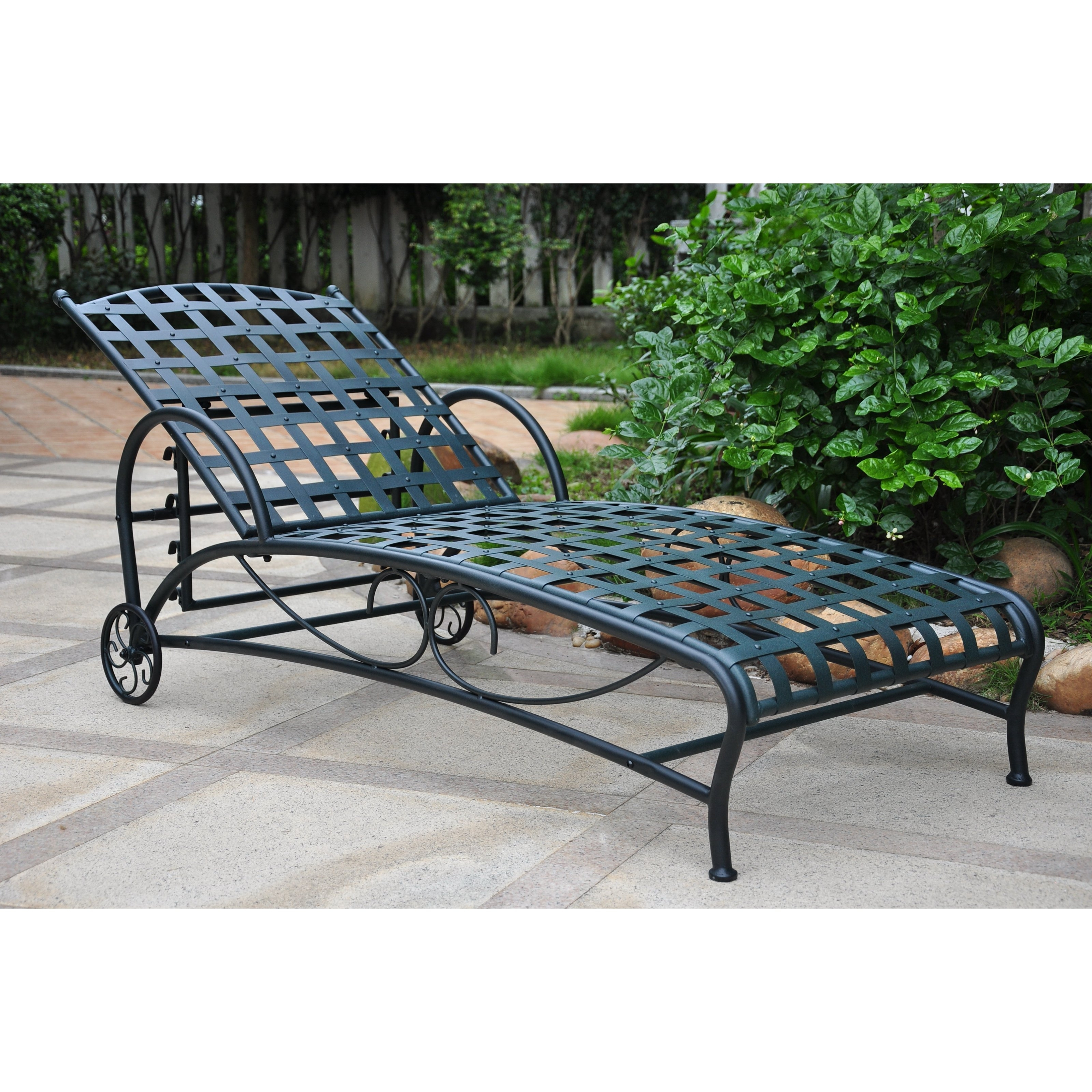 Wrought Iron Chaise Lounges In Most Up To Date Belham Living Capri Wrought Iron Multi Position Single Outdoor (View 8 of 15)