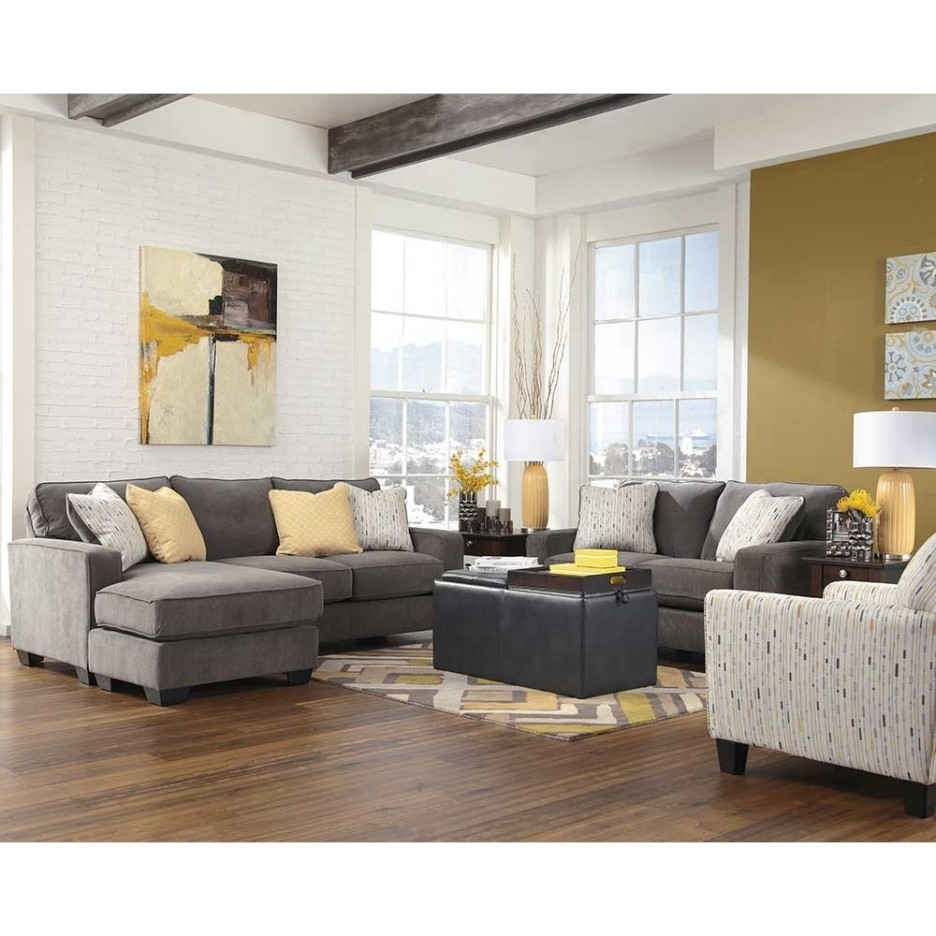 Yellow Chaise Lounge Chairs With Regard To Trendy Living Room Cool Image Of Living Room Decoration Using Grey Fabric (View 7 of 15)