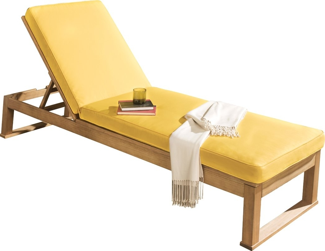 Yellow Chaise Lounges For Famous Guion Chaise Lounge With Cushion & Reviews (View 11 of 15)