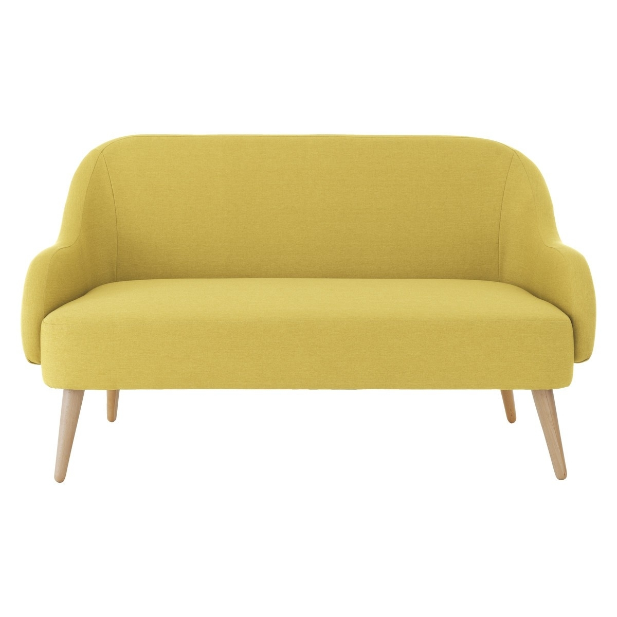 Yellow Fabric, Sofa (View 5 of 15)