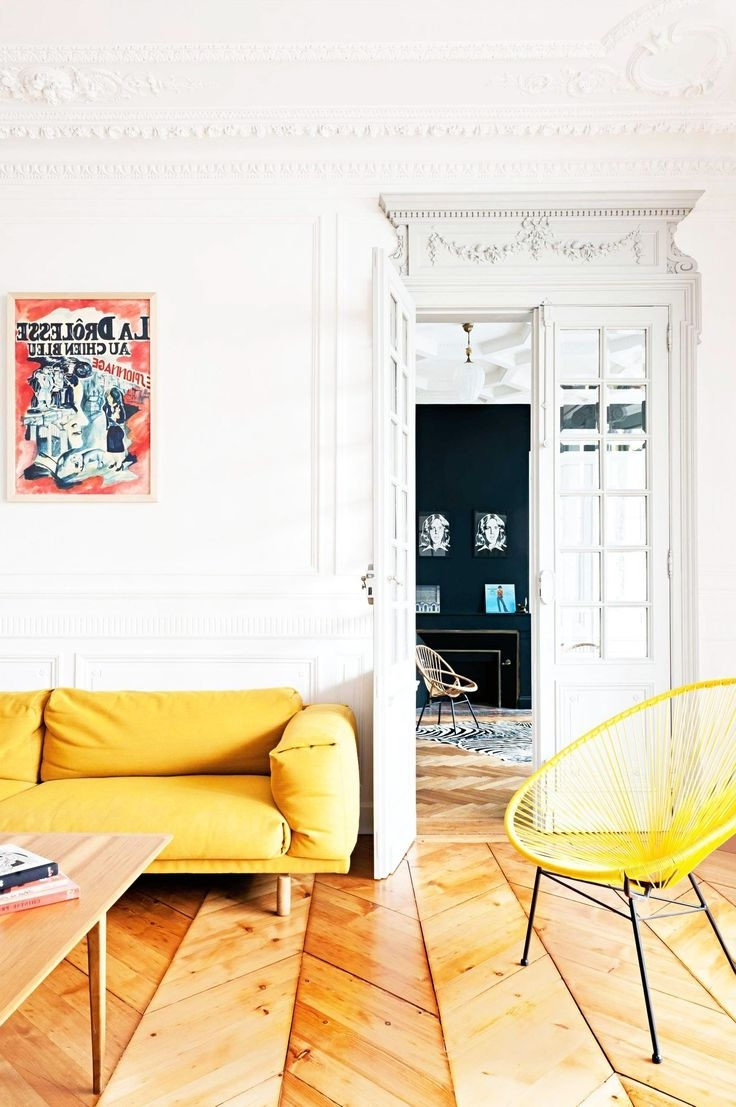 Yellow Sofa Chairs Inside Trendy Home Designs : Cool Colors For Living Room Yellow Sofa Yellow (View 7 of 15)