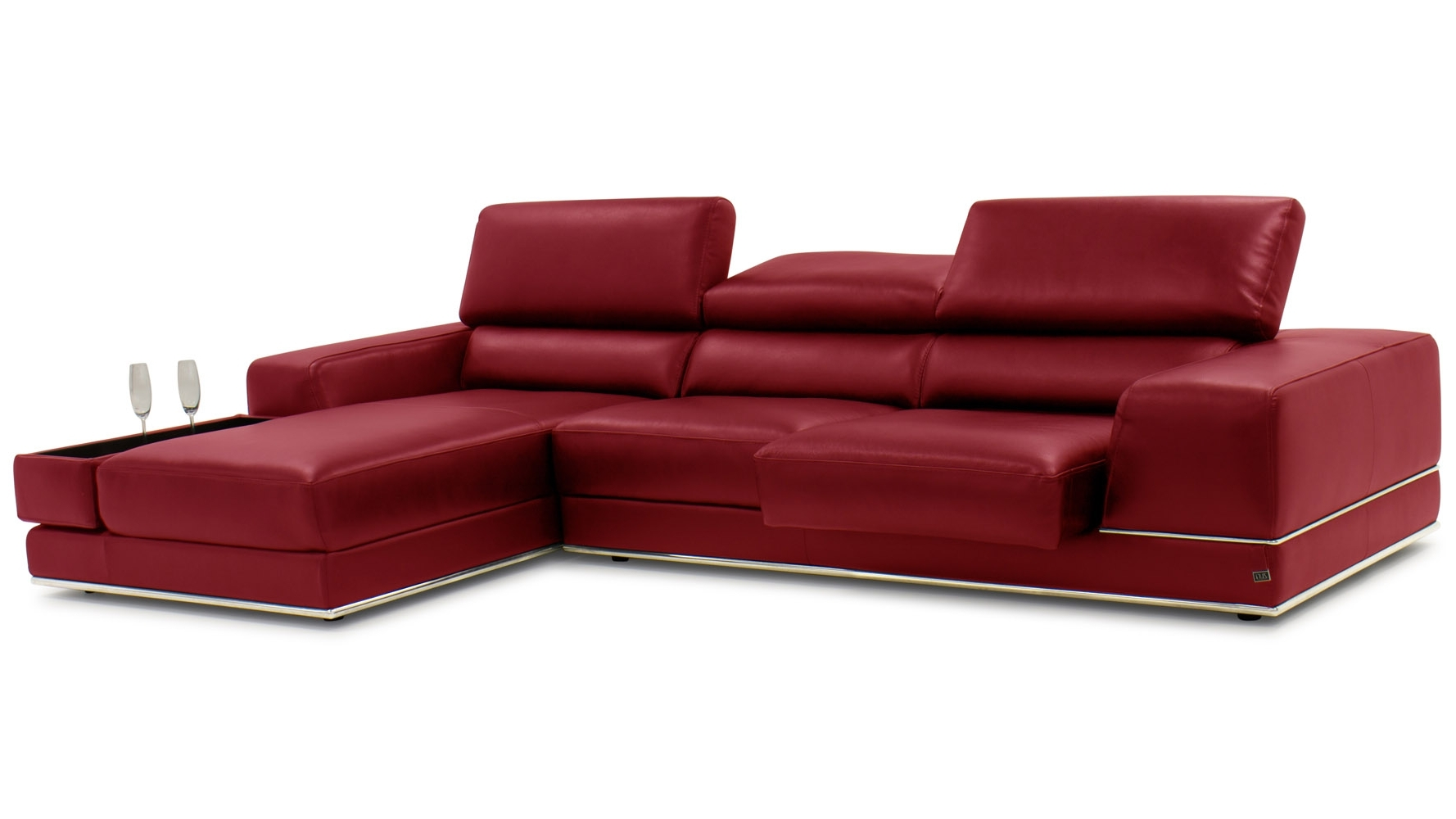 Zuri Furniture With Regard To Most Recent Red Leather Chaises (View 15 of 15)
