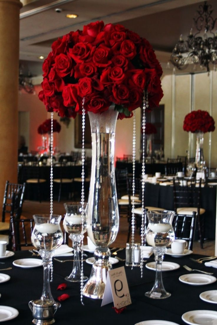 1022 Best Centerpieces – Bring On The Bling (Crystals & Diamonds Regarding Most Recently Released Faux Crystal Chandelier Centerpieces (Gallery 7 of 15)