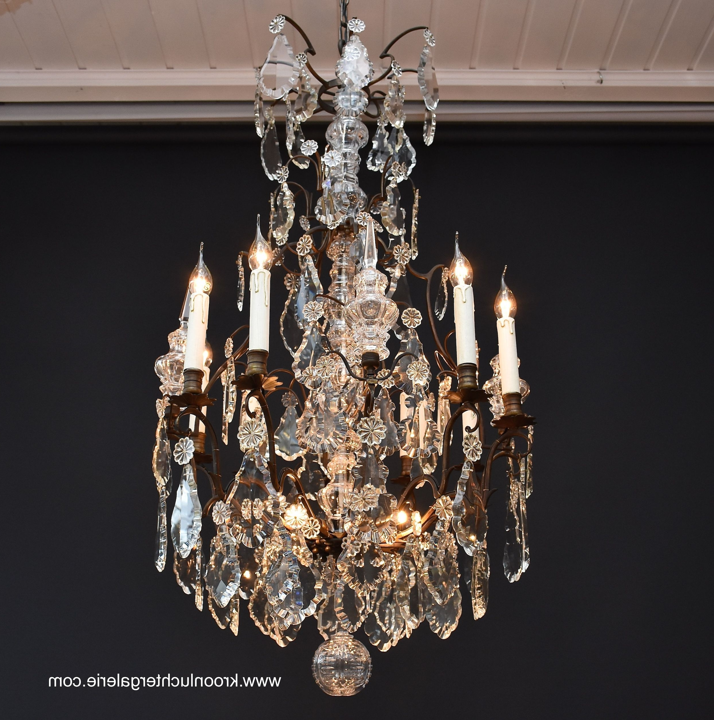 19Th Century French Crystal Chandelier, Ref (View 7 of 15)