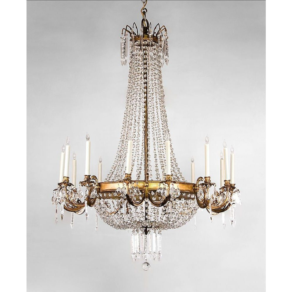 2017 French Style Chandelier Inside Entryway Chandelier – French Regency Style 14 Light Ormolu And (View 8 of 15)