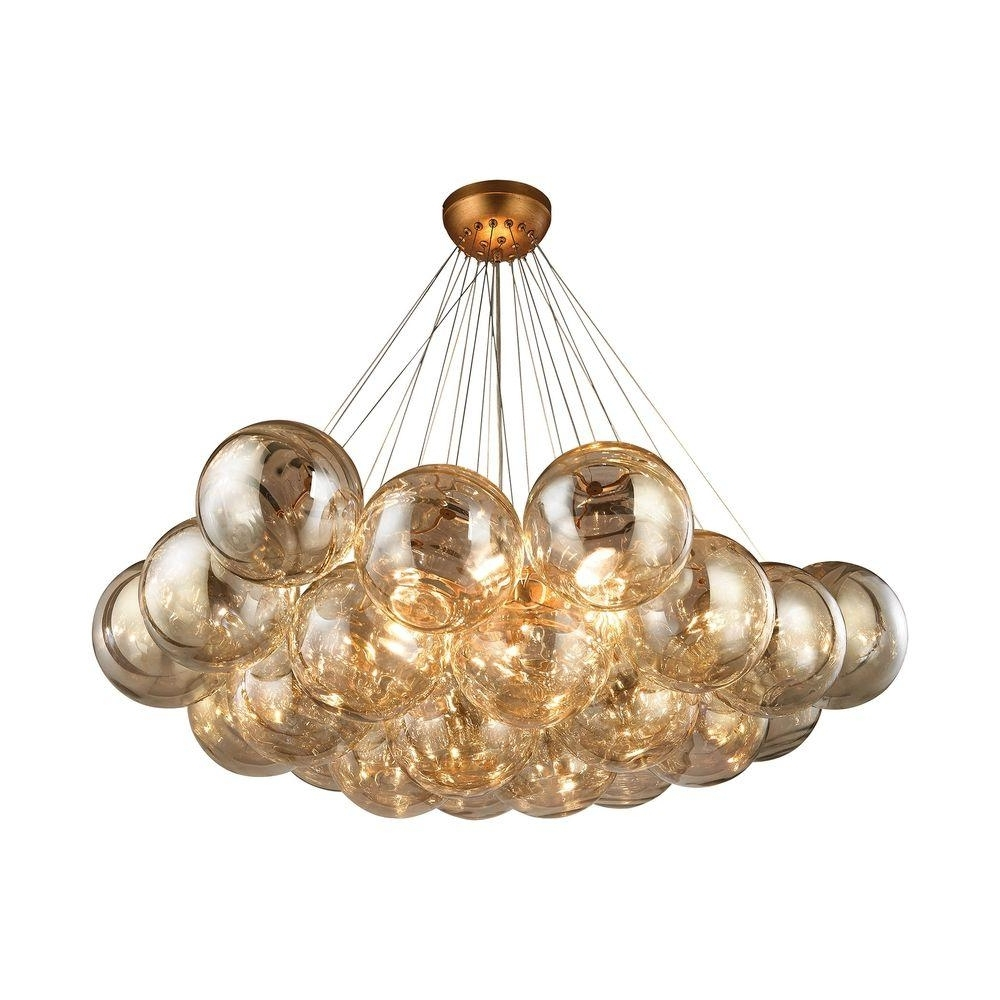 2017 Gold Leaf Chandelier With Regard To Titan Lighting Cielo 6 Light Antique Gold Leaf Chandelier Tn  (View 1 of 15)