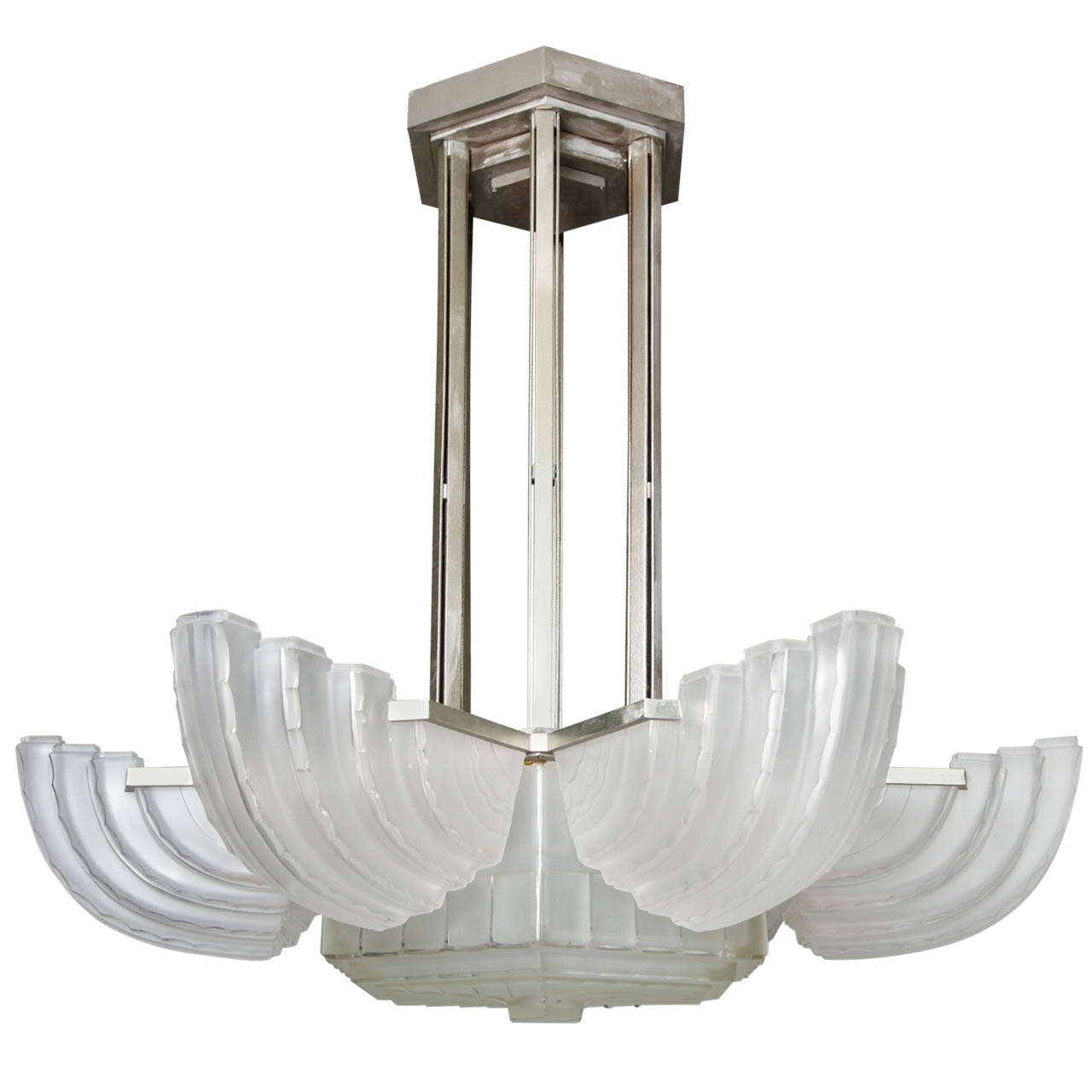 2017 Large And Important Art Deco Chandeliersabino – Paul Stamati Gallery Inside Large Art Deco Chandelier (View 4 of 15)