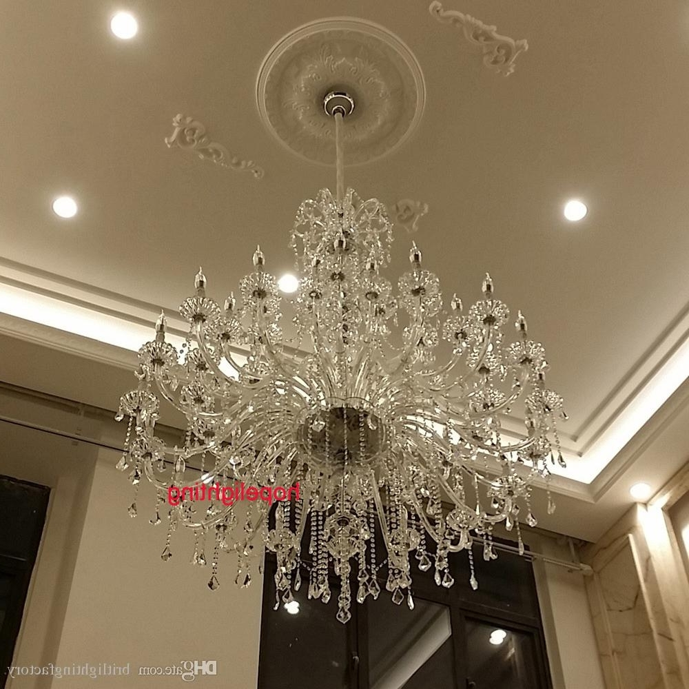 2017 Modern Large Chandeliers Intended For Modern Large Crystal Chandelier For Foyer Big Crystal Chandelier (View 2 of 15)