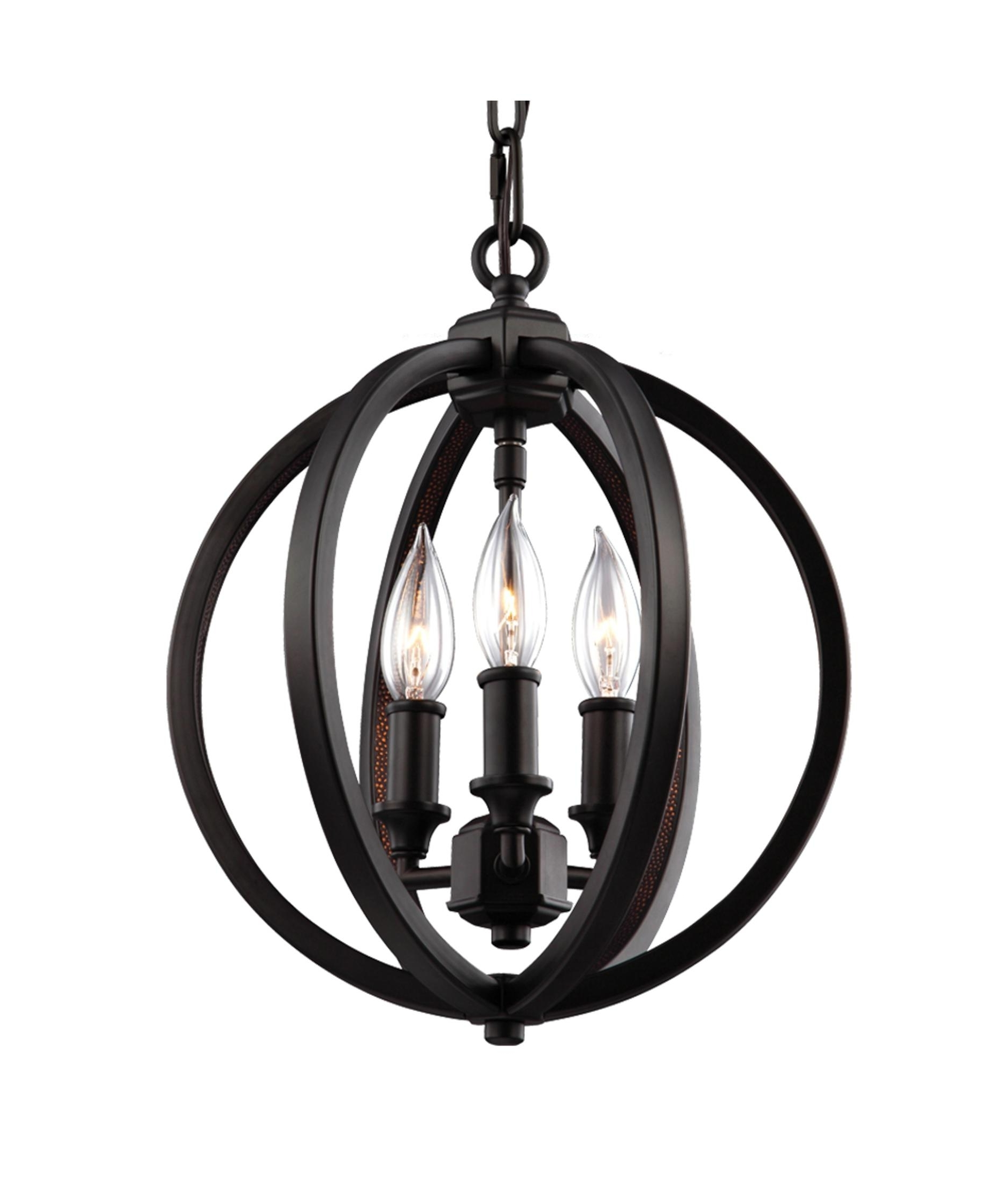 2017 Murray Feiss F3059 3 Corinne 11 Inch Wide 3 Light Mini Chandelier In Small Bronze Chandelier (View 1 of 15)
