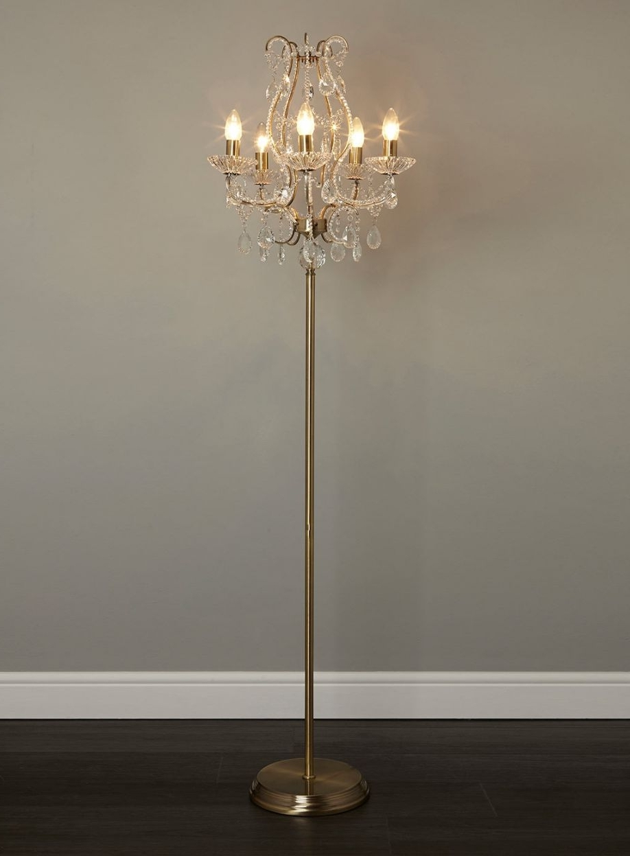 2017 Paper Lantern Floor Lamp Crystal Chandelier Style Table Spindle With Standing Chandelier Floor Lamps (View 1 of 15)