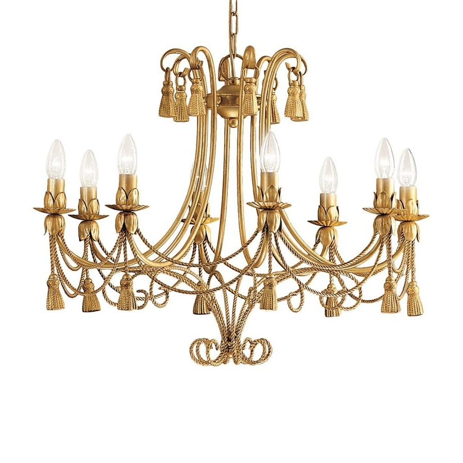 2017 Shop Classic Lighting Rope And Tassel 28 In 8 Light French Gold For French Gold Chandelier (View 4 of 15)
