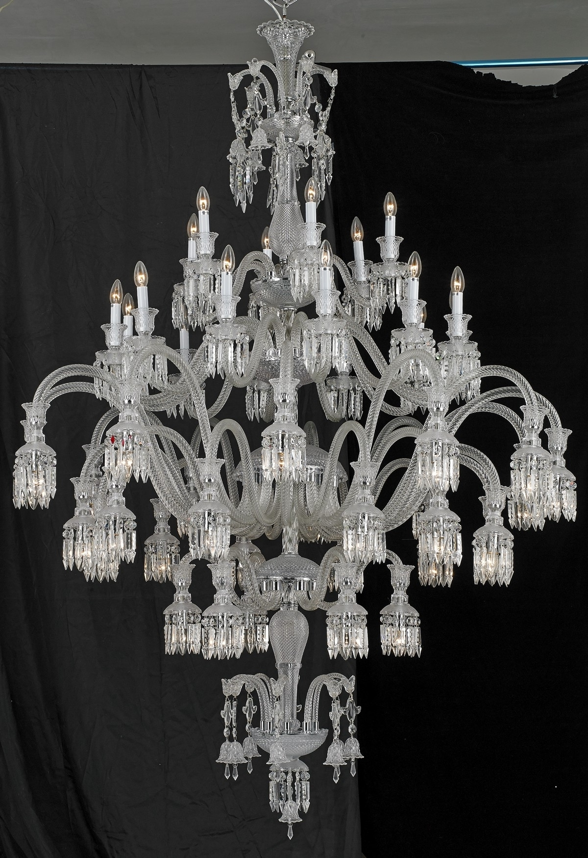 2017 Sol 48 Light Baccarat Inspired Chandelier With Murano Chandelier Replica (View 1 of 15)