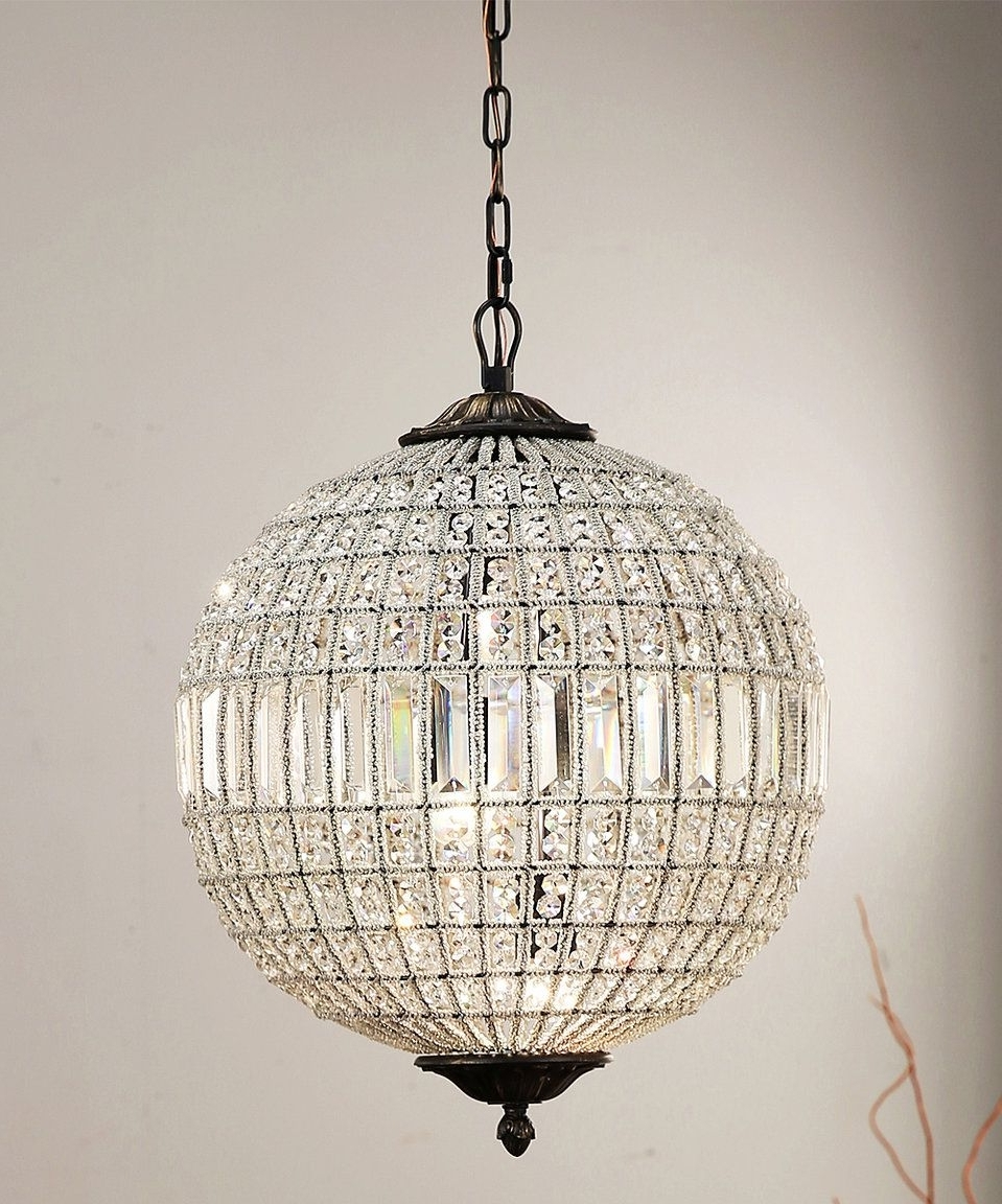 2017 Sphere Chandelier In Chandeliers : Crystal Sphere Chandelier Wire Sample Images Concept (View 4 of 15)