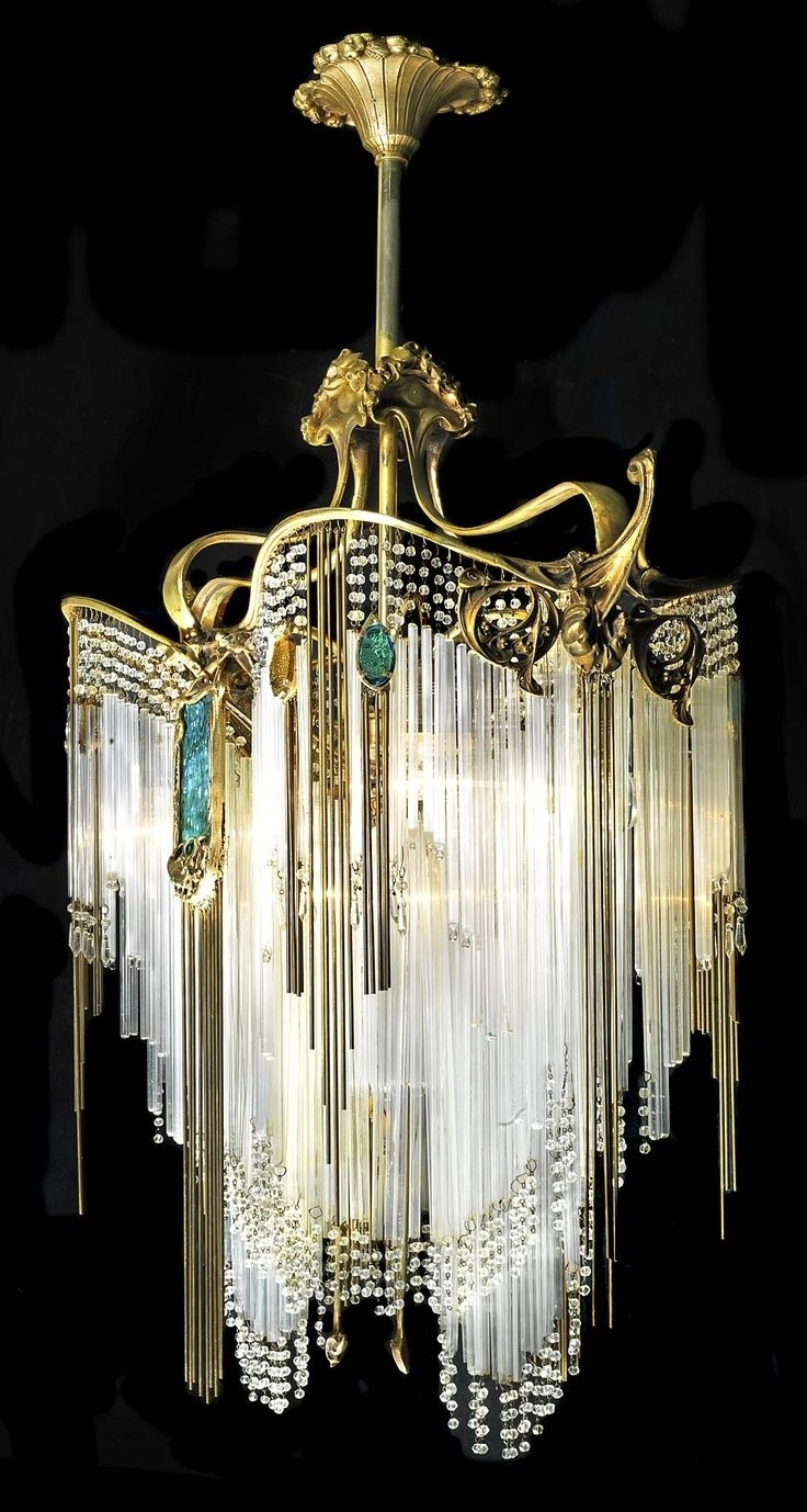 2018 155 Best Vintage Chandeliers And Lamps Images On Pinterest Intended For Vintage Chandeliers (View 1 of 15)