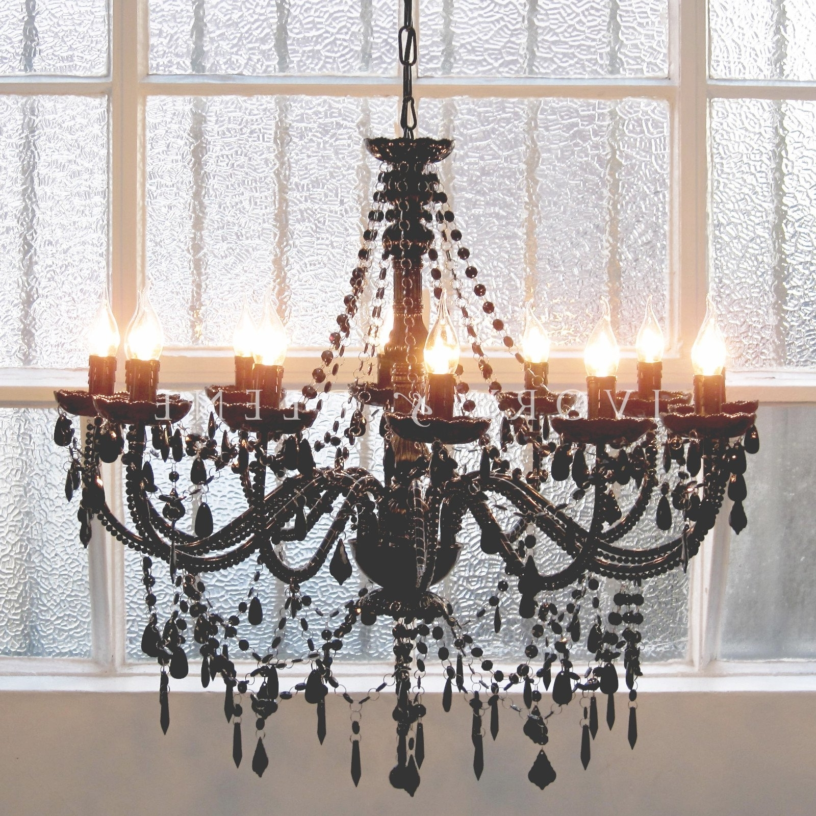 2018 Awesome Chandelier 12 Light French Provincial Black Cassie – Ivory Throughout Large Black Chandelier (View 1 of 15)