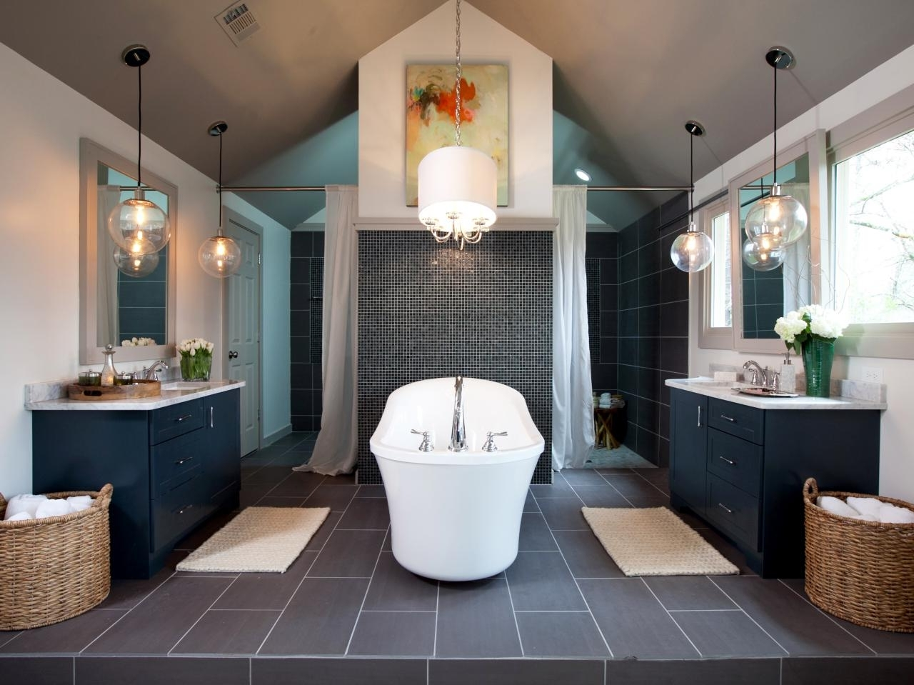 2018 Bathroom: Modern Bathroom Chandeliers With Gold Frame In Small In Modern Bathroom Chandeliers (View 1 of 15)