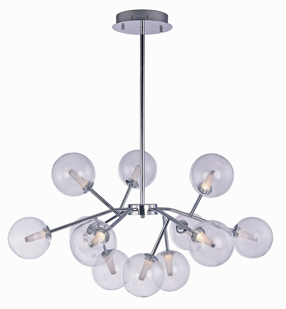 2018 Et2 E24284 24Pc Satellite Modern Polished Chrome Led Chandelier Pertaining To Modern Chrome Chandelier (View 2 of 15)