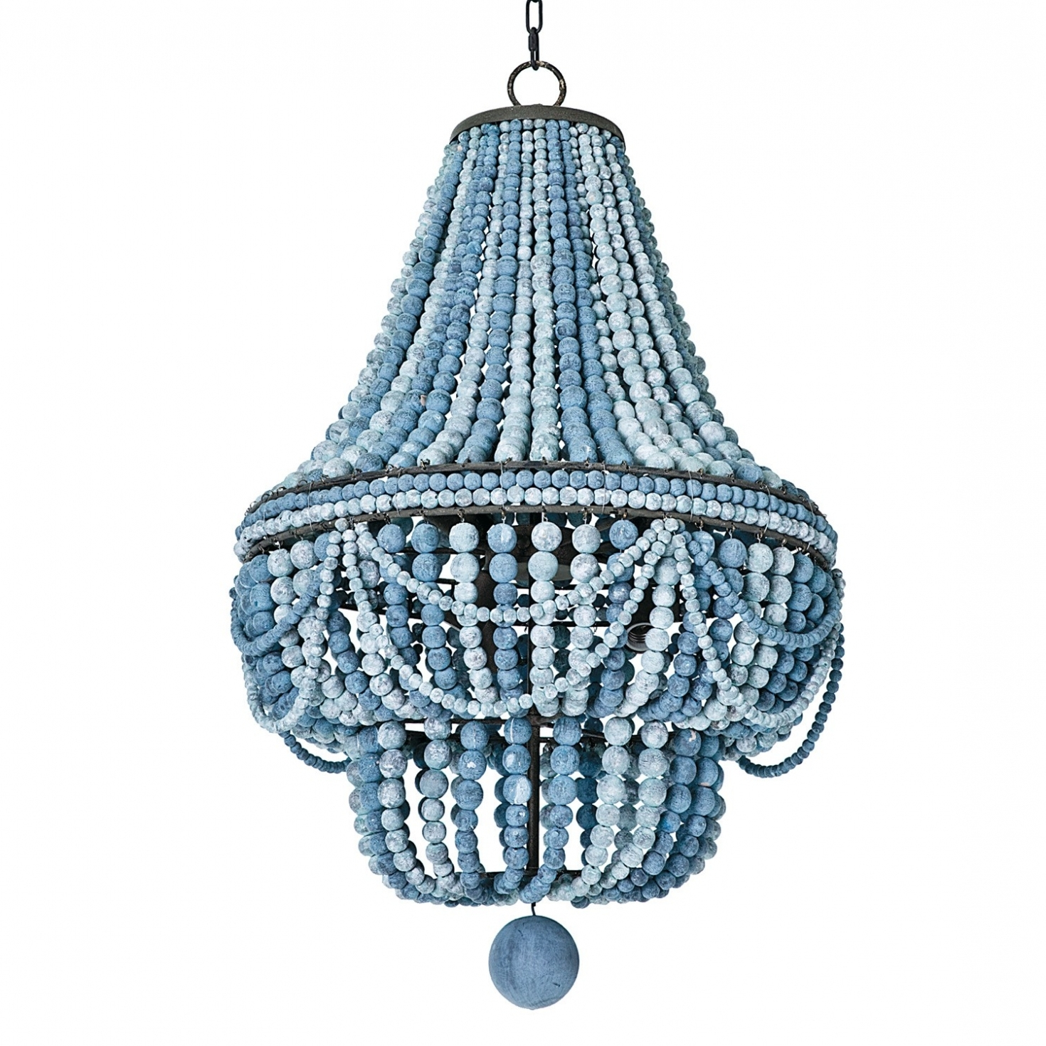 2018 Lighting ~ Chandeliers ~ Turquoise Beaded Chandelier Light Fixture Pertaining To Turquoise Wood Bead Chandeliers (View 4 of 15)