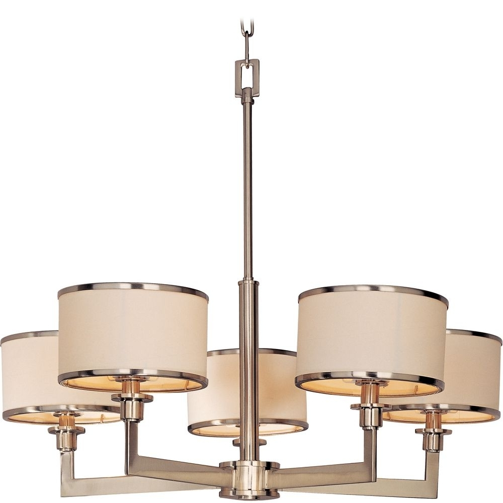 2018 Lighting: Satin And Drums Drum Chandelier Also Large Drum Shade Regarding Large Cream Chandelier (View 1 of 15)