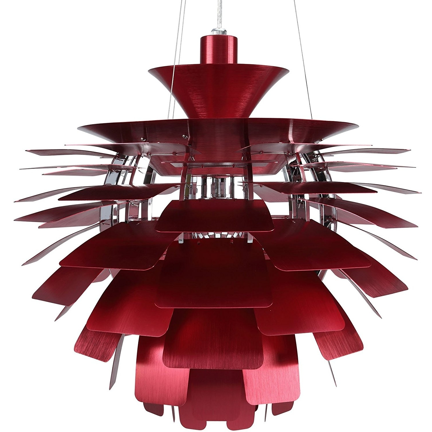 "2018 Modern Red Chandelier Throughout Amazon: Modway 24"" Petal Chandelier Modern Lamp In Red: Home (View 1 of 15)"