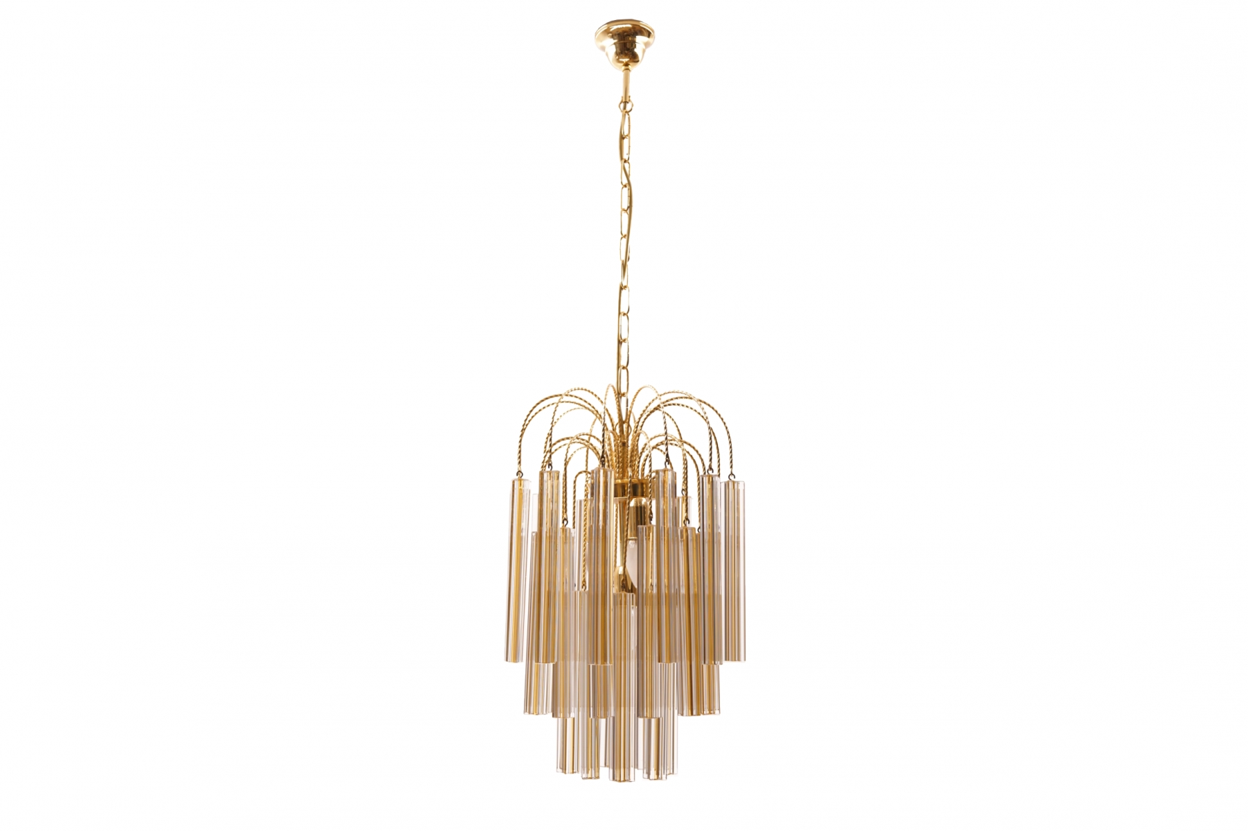 2018 Vintage Chandelier With Vintage Chandelier With Murano Glass From Venini For Sale At Pamono (View 2 of 15)