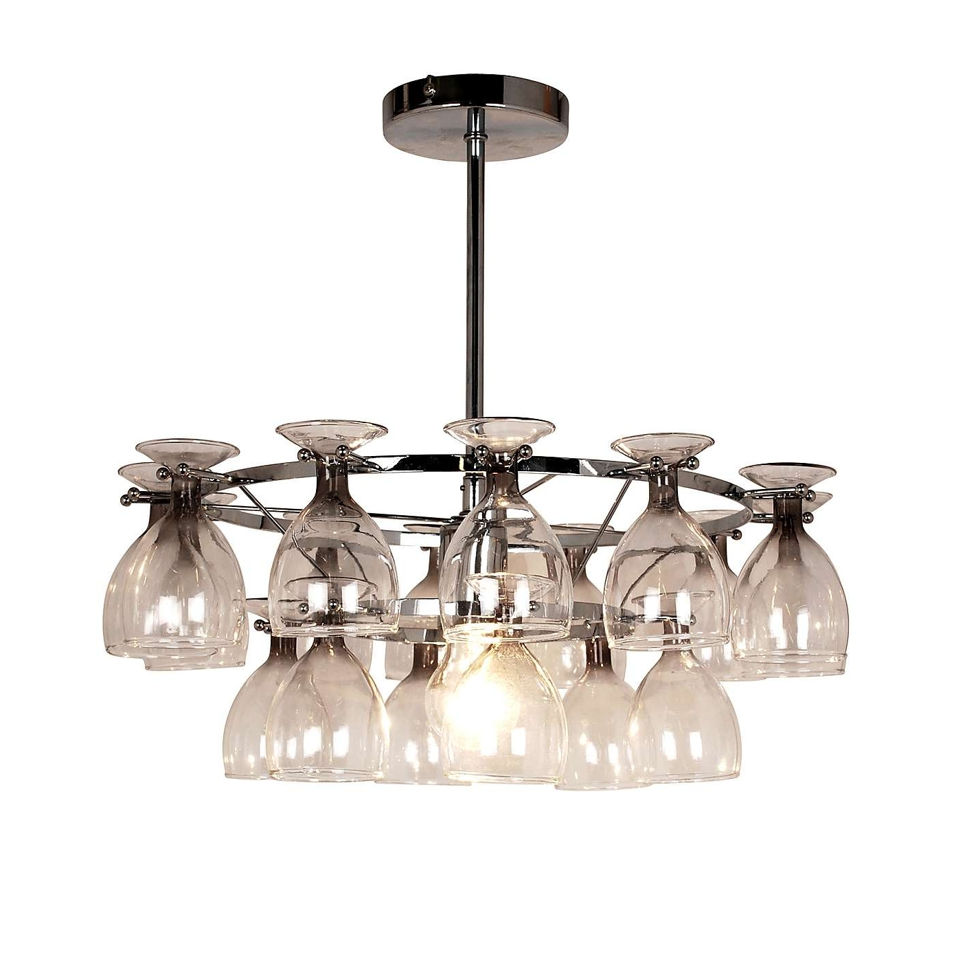 5 Beautiful Wine Glass Light Fittings (Gallery 10 of 15)
