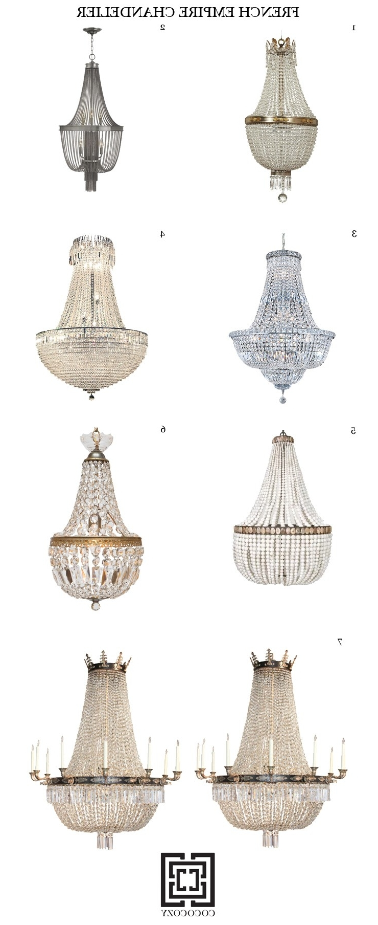 9 Elegant French Empire Chandeliers (View 7 of 15)