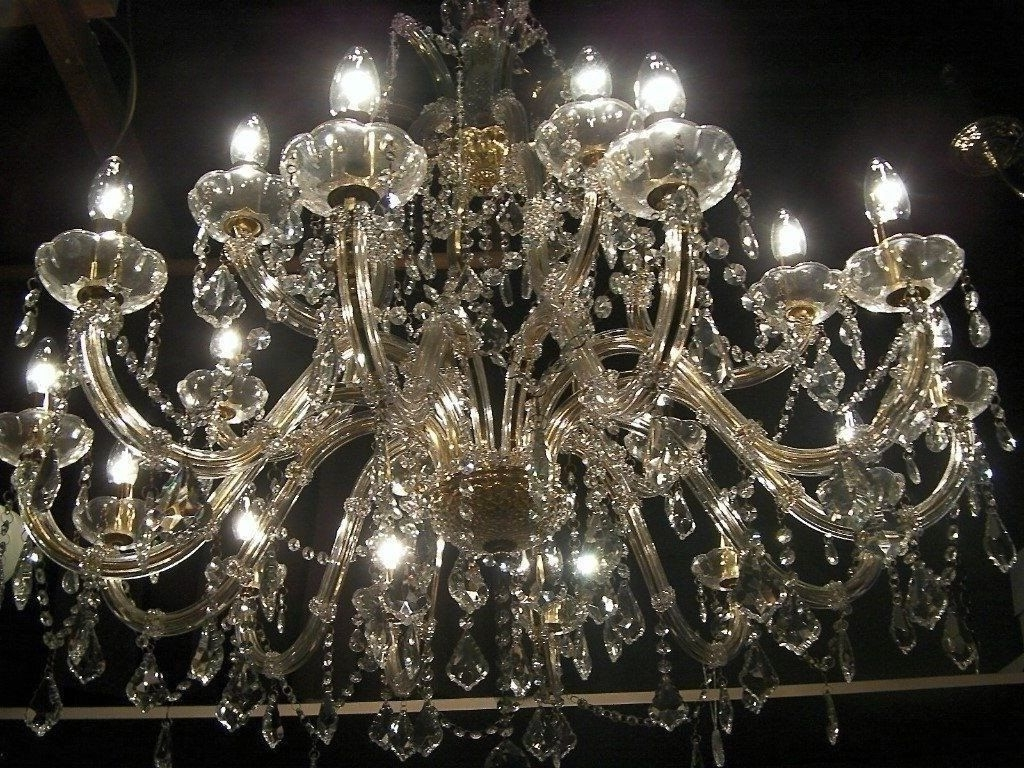 Absolutely Massive*~ Chandelier Smothered In Crystal (View 2 of 15)