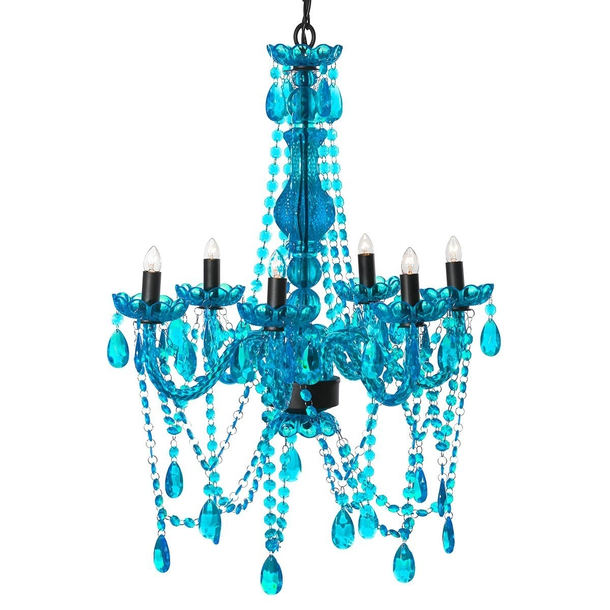 Amazon: 3C4G Chandelier, Turquoise: Home & Kitchen Throughout Best And Newest Turquoise Color Chandeliers (View 14 of 15)