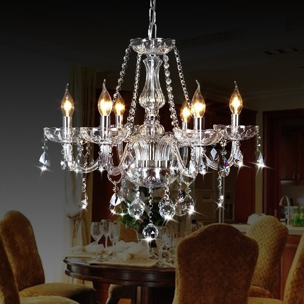 Amazon: Crystop Classic Vintage Crystal Candle Chandeliers Within Famous Metal Ball Candle Chandeliers (View 1 of 15)