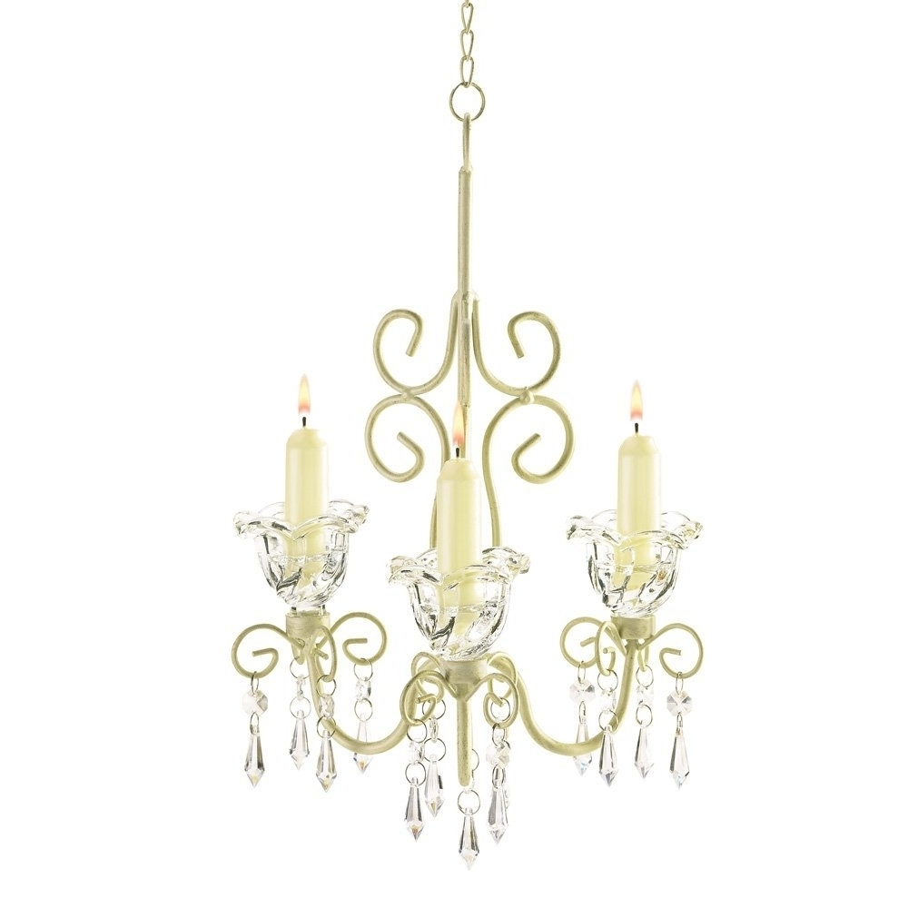 Amazon: Gifts & Decor Shabby Elegance Scrollwork Candleholder Pertaining To Most Popular Small Shabby Chic Chandelier (View 1 of 15)