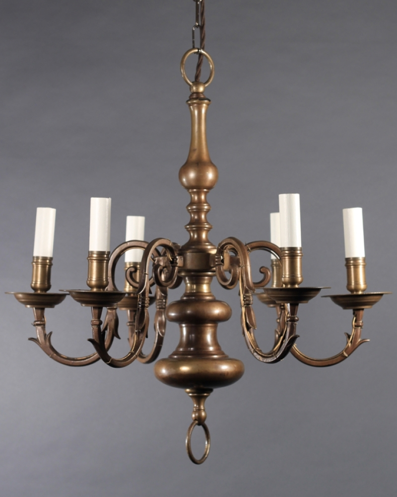 Antique Brass Chandelier (View 1 of 15)