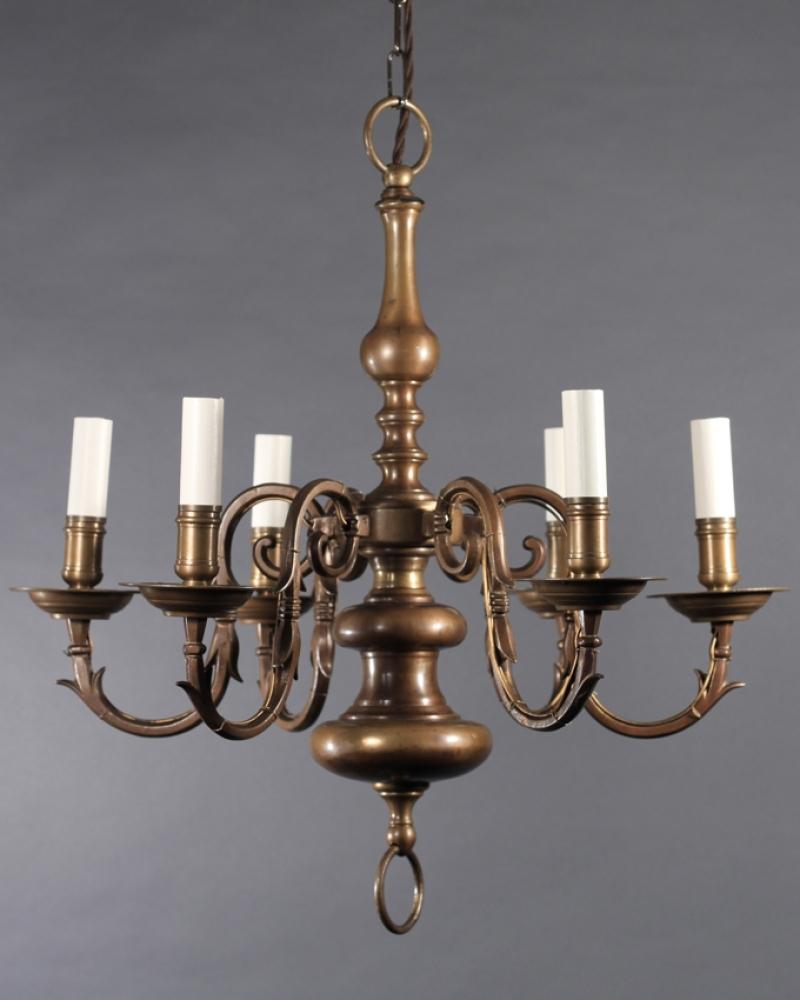 Antique Brass Chandelier (View 2 of 15)