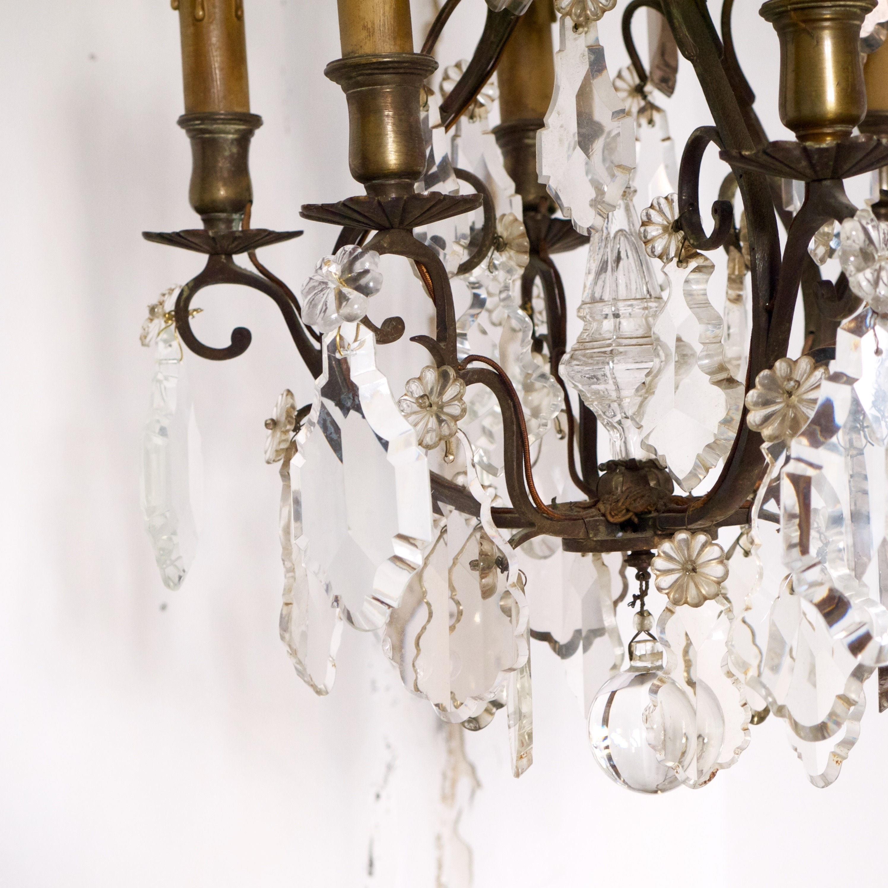 Antique Crystal French Bronze Chandelier (View 9 of 15)