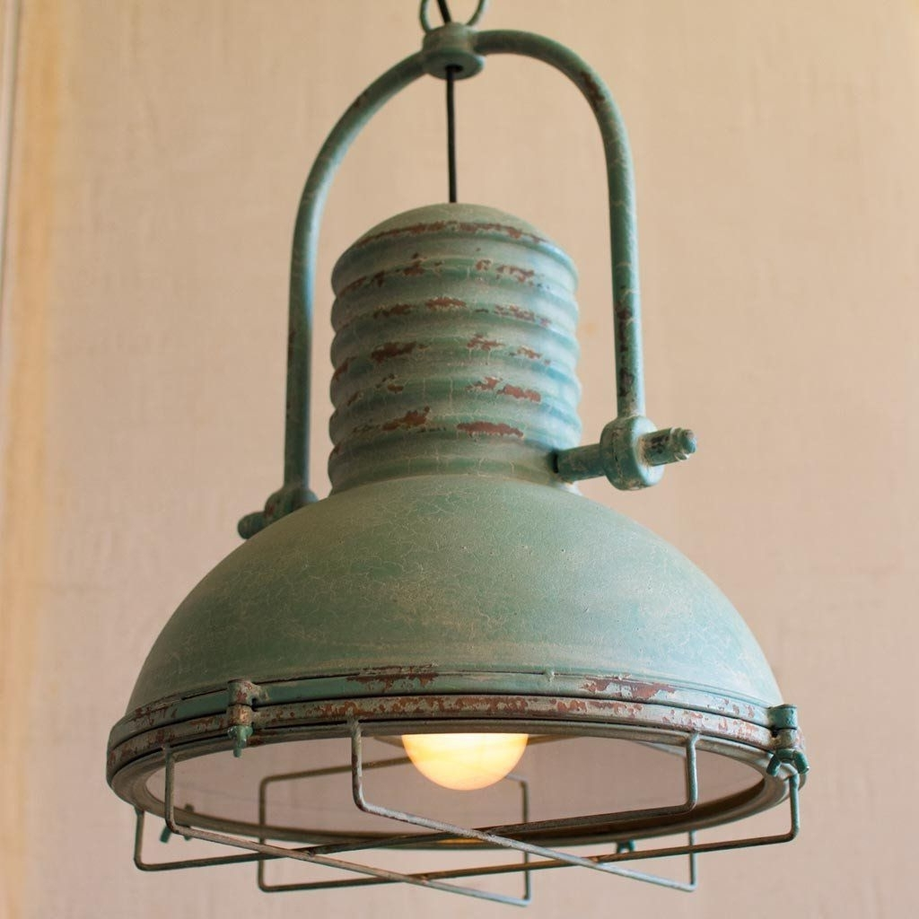 Antique Turquoise Pendant Light (View 6 of 15)