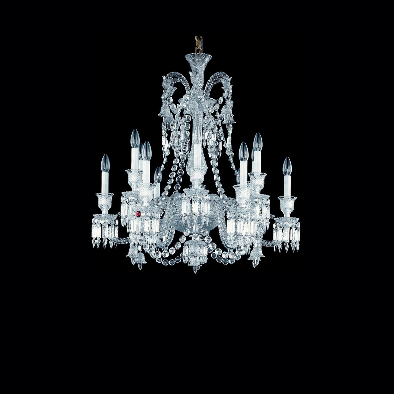 Best And Newest Chandelier Clear 12L Baccarat Zenith 2606555 Pertaining To Short Chandelier Lights (View 1 of 15)