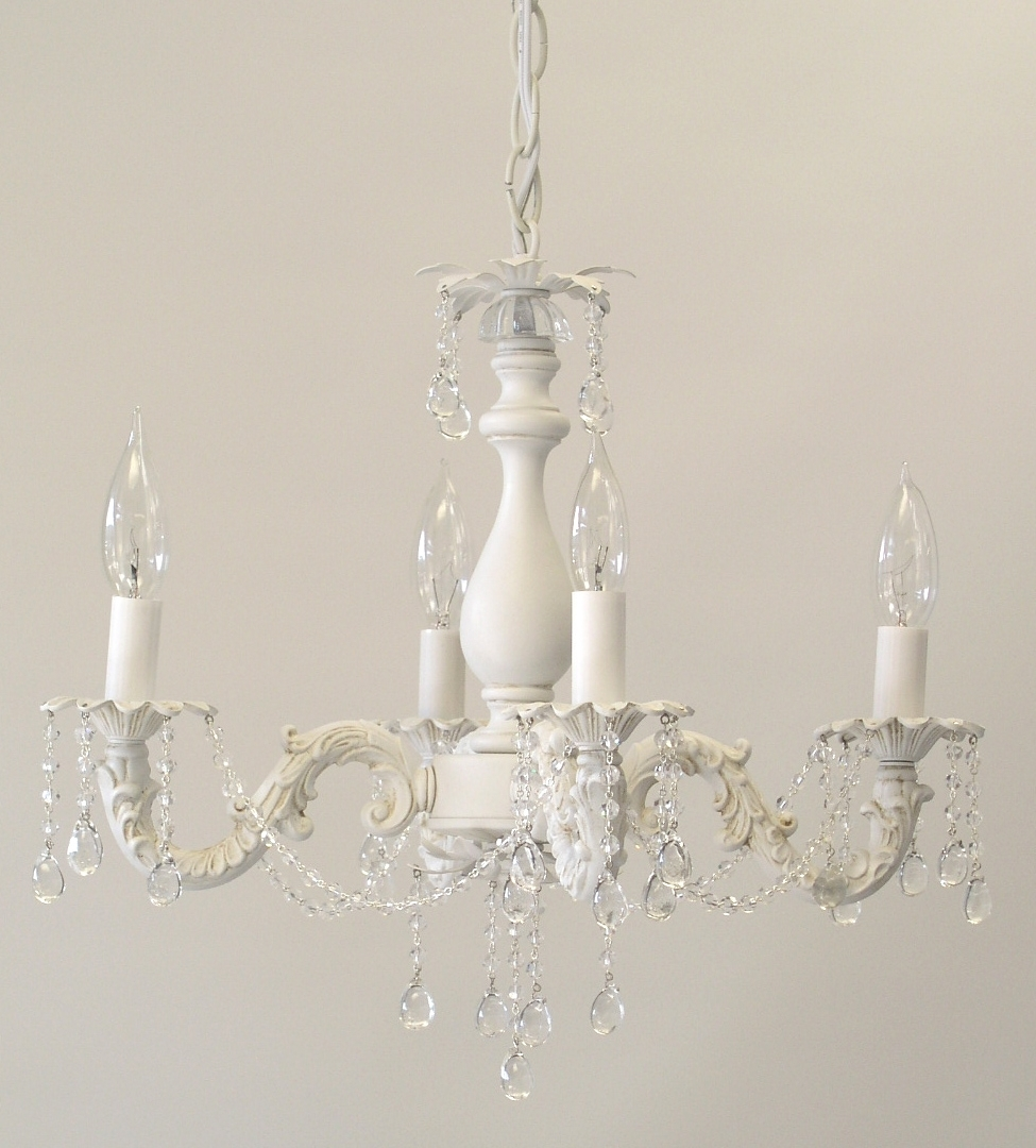 Best And Newest I Lite 4 U; Shabby Chic Style Mini Chandeliers & Lighting Inside Shabby Chic Chandeliers (View 2 of 15)