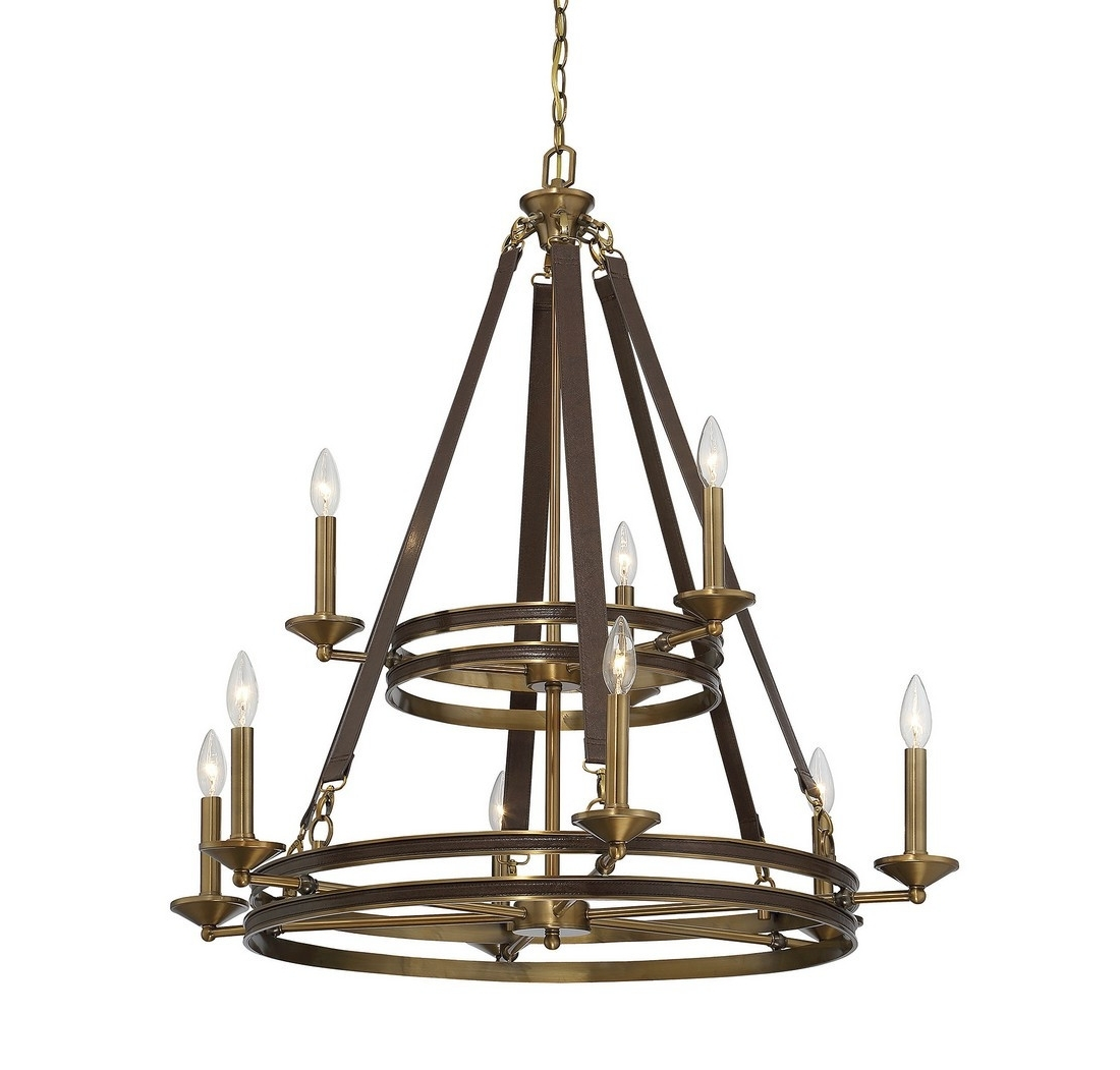 Best And Newest Leather Chandeliers With Regard To Chandeliers Design : Fabulous Bi Zoom Light Chandelier Golden (View 3 of 15)