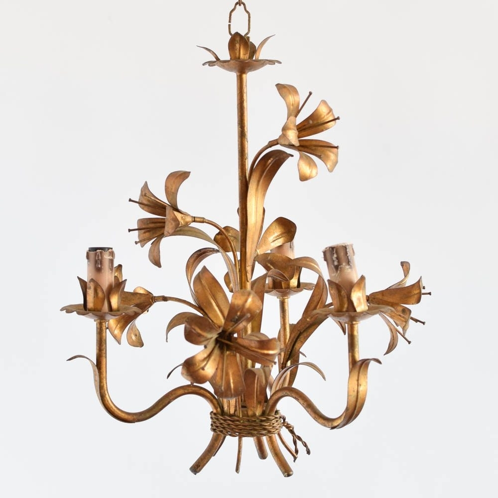 Best And Newest Lily Chandeliers Pertaining To Gilded Lily Chandelier – The Big Chandelier (View 7 of 15)