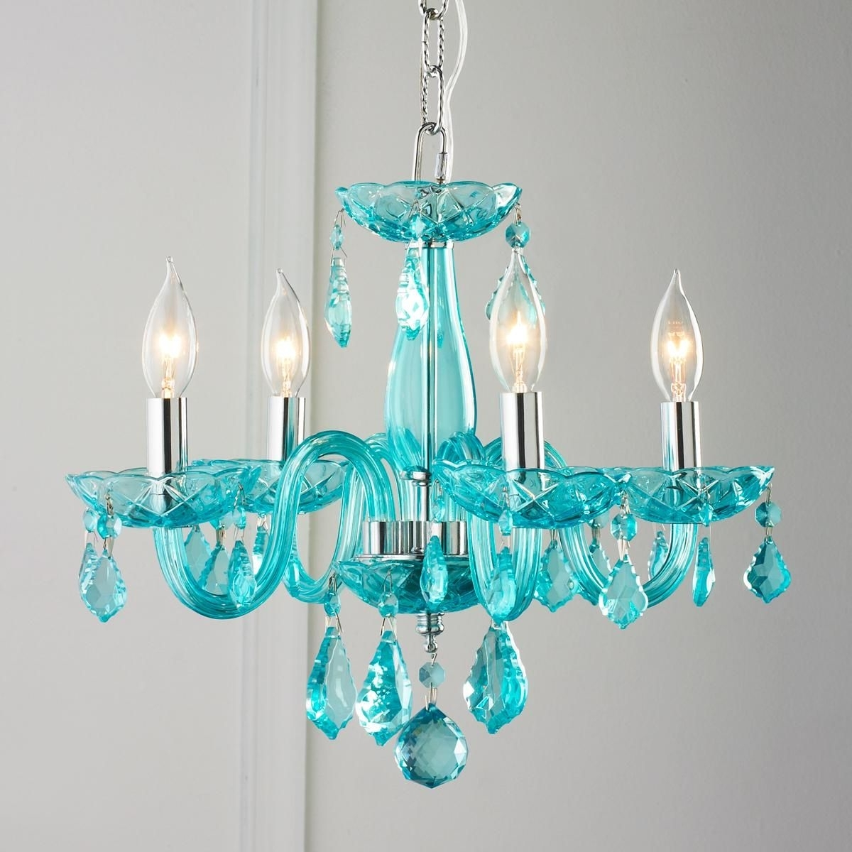 Best And Newest Turquoise Gem Chandelier Lamps Regarding Color Crystal Mini Chandelier (View 11 of 15)