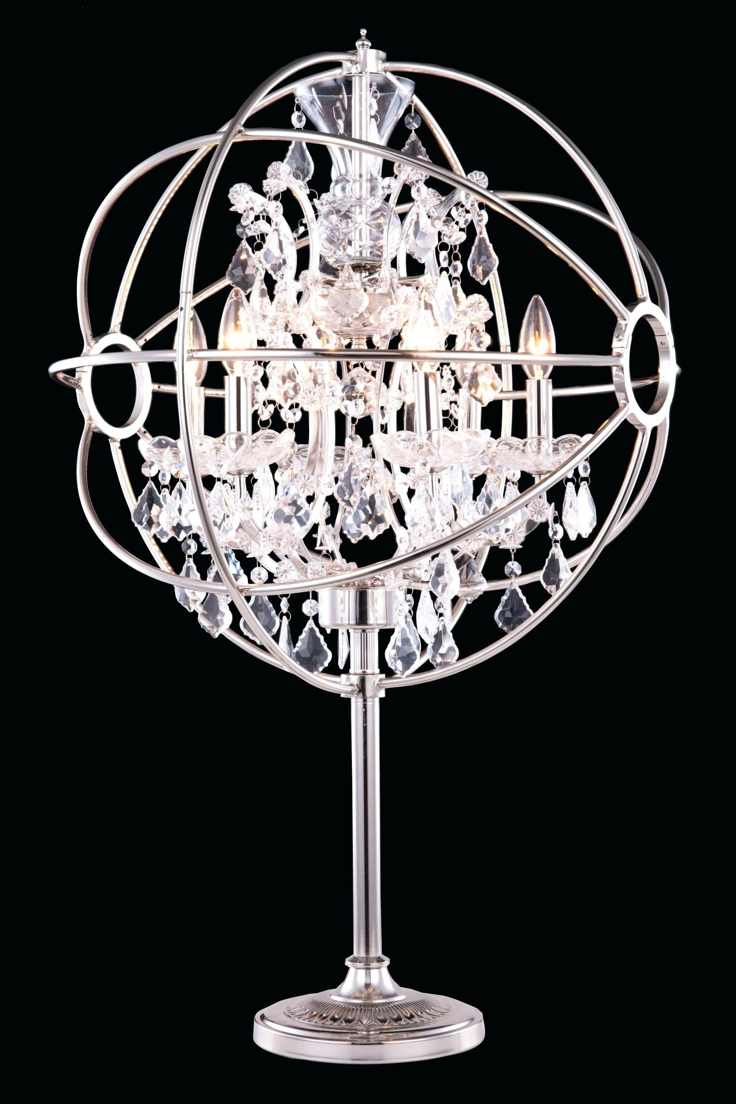 Black Crystal Chandelier Table Lamps – Homeinteriorideas (View 1 of 15)