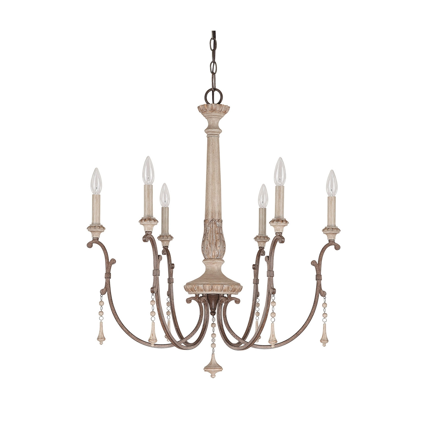 Capital Lighting Fixture Company Chateau French Oak Six Light For Best And Newest French Style Chandeliers (View 3 of 15)