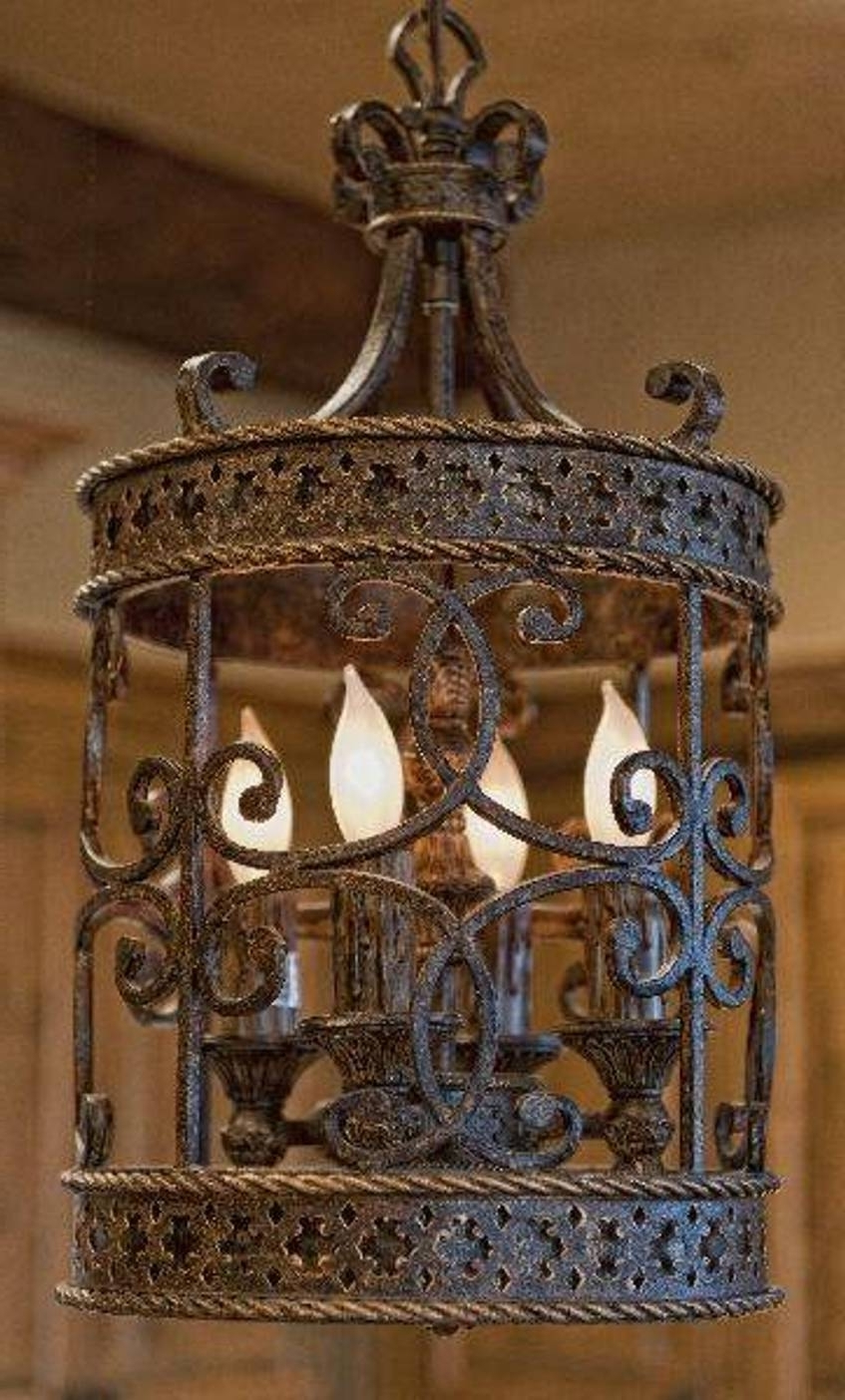 Chandelier: Astonishing Cast Iron Chandelier Large Wrought Iron With Regard To Fashionable Large Iron Chandelier (View 10 of 15)