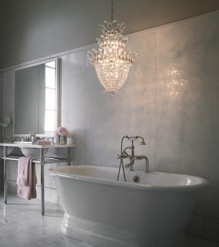 Chandelier: Astonishing Mini Chandeliers For Bathroom Mini Intended For Popular Mini Chandelier Bathroom Lighting (View 3 of 15)
