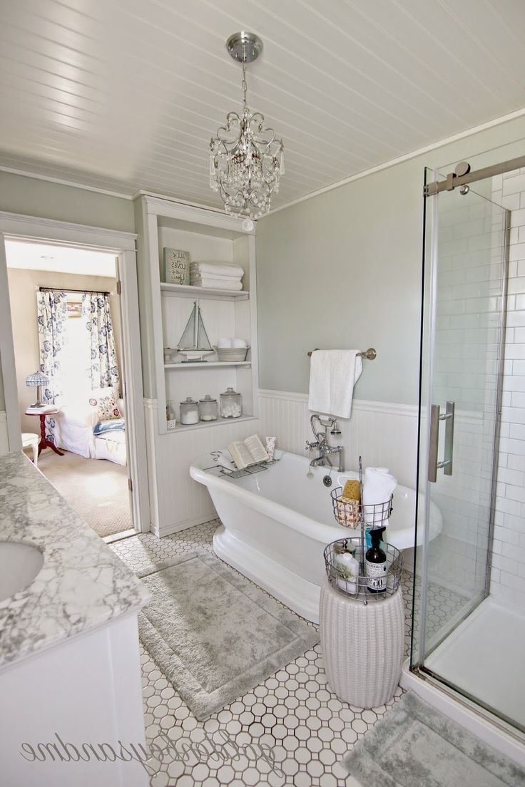 Chandelier: Astonishing Small Chandeliers For Bathroom Bathroom Regarding 2018 Modern Bathroom Chandeliers (View 10 of 15)