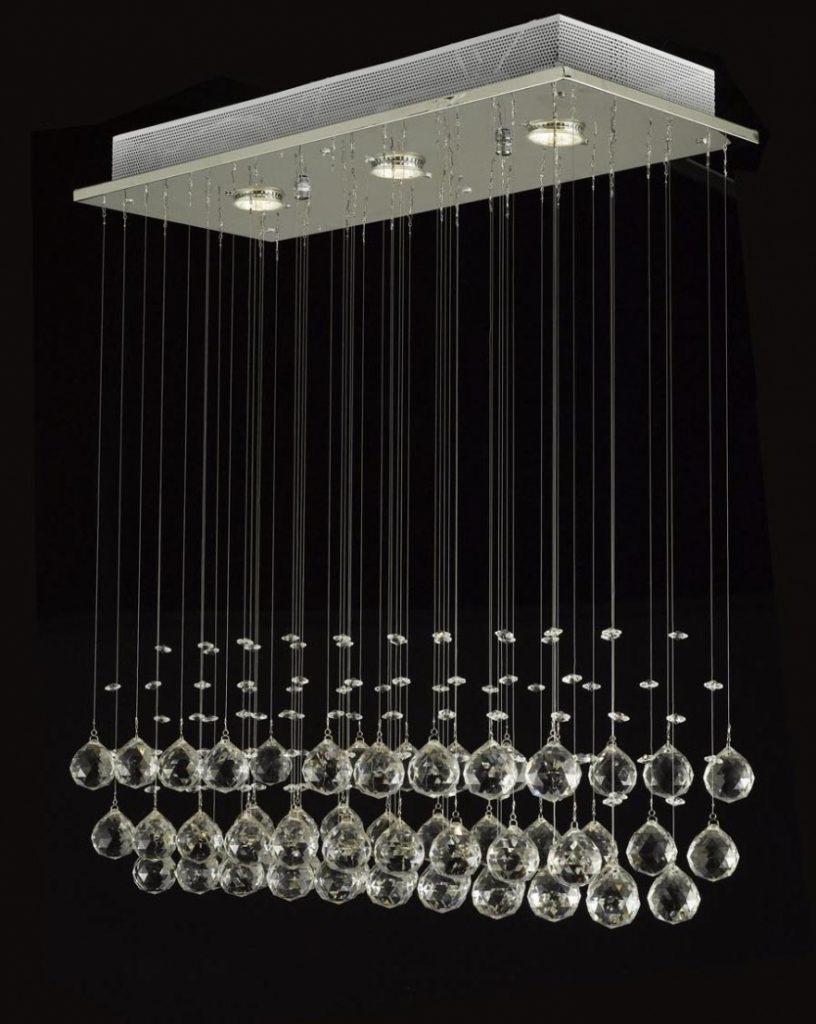 Chandelier ~ Chandelier : Long Modern Chandelier Glass Chandelier Inside Famous Long Modern Chandelier (View 2 of 15)