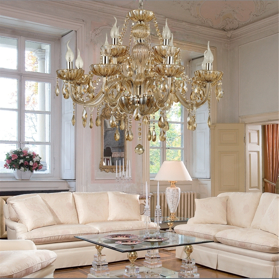 Chandelier Crystal Luxury Classic 2 Tiers Living 12 Lights,living With Regard To Recent Living Room Chandeliers (View 1 of 15)