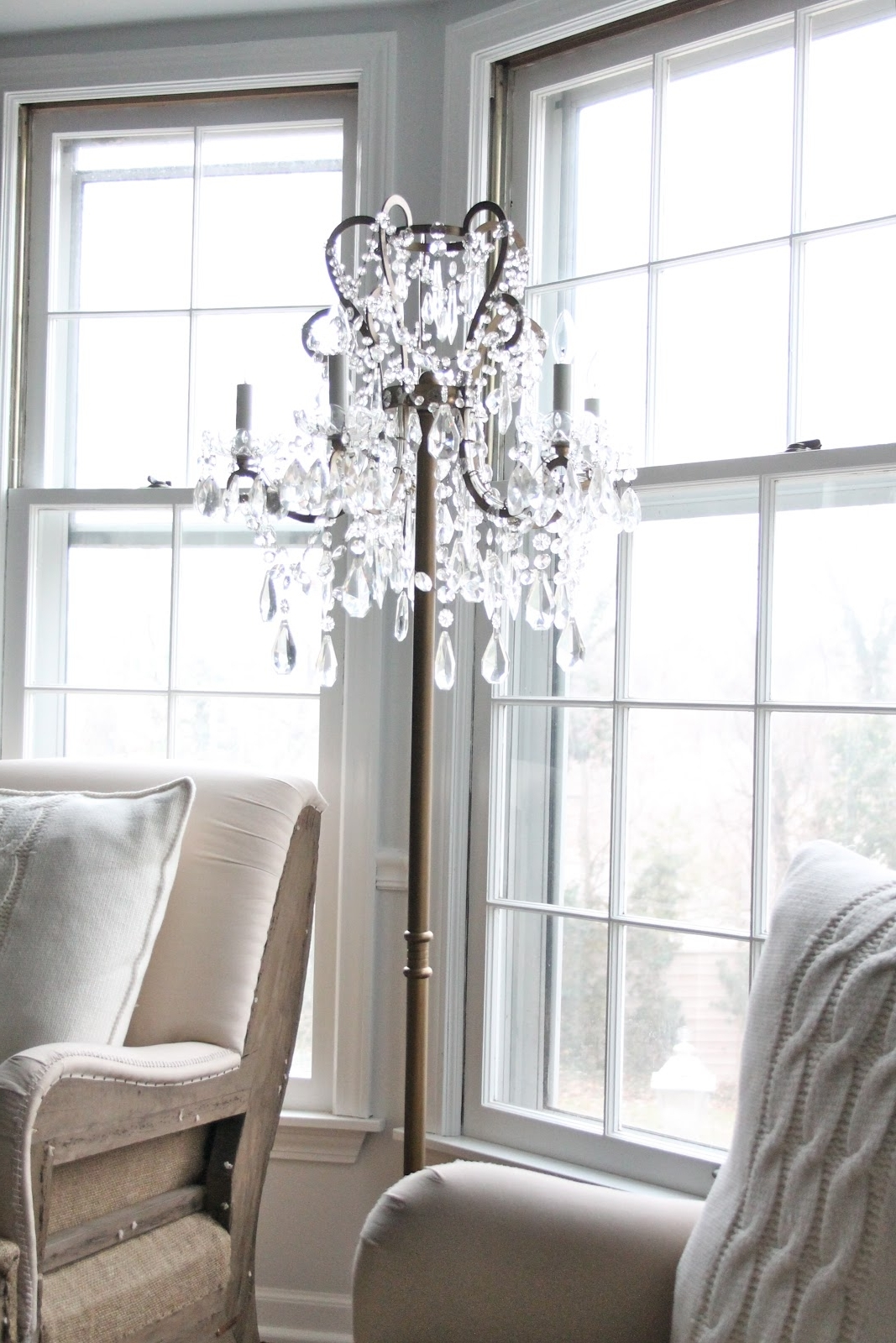 Chandelier Floor Lamp (View 2 of 15)